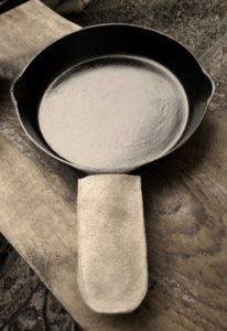 Leather Frying Pan Handle